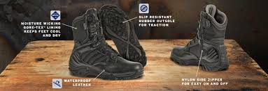 motorcycle boot stores near me men gx 8 side zip boot with gore tex black bates footwear