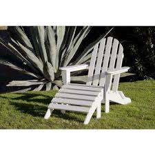 White Wood Outdoor Furniture by Adirondack Chairs Patio Chairs The Home Depot