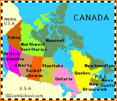 canadian map canada s geography enchantedlearning