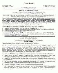 Technical Program Manager Resume Example Project Manager Resume Unforgettable Technical Project