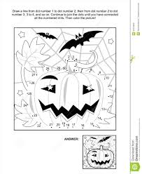 halloween coloring pages connect dots coloring page