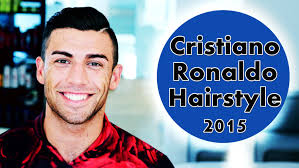 how to do cristiano ronaldo hairstyle cristiano ronaldo hairstyle 2015 youtube