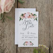 Save The Date Cards Hand Illustrated Floral Save The Date Cards Boho Ginger Ray