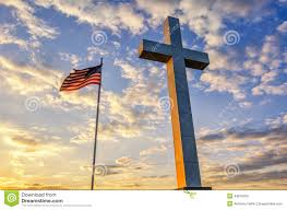 Kentucky Flags Cross And American Flag At Sunset Stock Photo Image 43619350