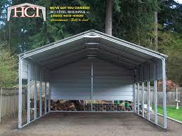 Garage With Carport Metal Carports Hci Steel Buildings