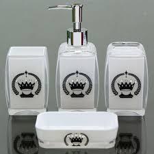 Chrome Pump Patterned White Modern Plastic Bathroom Accessories - White plastic bathroom accessories