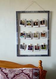 diy pinterest inspired project for polaroid style picture display