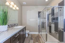 S And W Cabinets Contemporary 3 4 Bathroom With Rain Shower Head U0026 Complex Granite