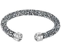 white swarovski crystal bracelet images Crystaldust cuff gray stainless steel jewelry swarovski jpg