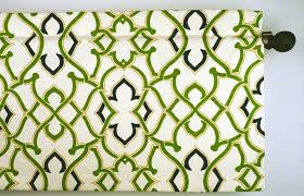 Navy And Green Curtains Geometric Design Valance In Green Navy And Mustard Fabric