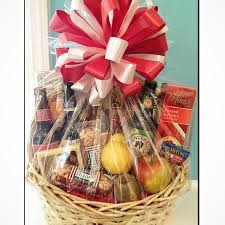 fruit and cheese baskets custom gift basket made with fruit cheese crackers and a