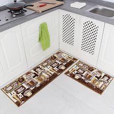 Kitchen Floor Runner by Carvapet 2 Piece Non Slip Kitchen Mat Rubber Backing Doormat