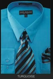 men u0027s dress shirt premium tie turquoise light blue