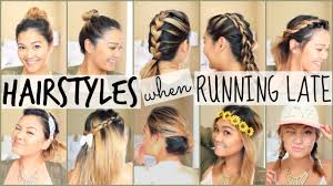 Quick Easy Hairstyles For Girls by Easy Hairstyles When Running Late Youtube
