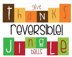 reversible thanksgiving jingle bell blocks saturday
