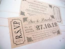vintage style wedding invitations vintage style concert ticket by sweet words stationery
