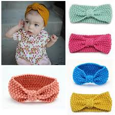 crocheted headbands crocheted headbands for babies and toddlers knotted turban style