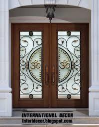 glass door designs creative wood door with glass design 23 in home design furniture