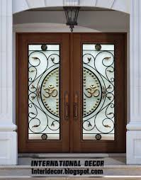 glass design wood door with glass design khabars net