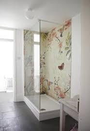 tapeten badezimmer wasserfeste tapete für dusche artownit for