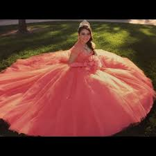 quinceanera dresses coral 60 dresses skirts beautiful coral quinceañera dress from