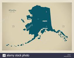Alaska Us Map by Modern Map Alaska Usa Stock Vector Art U0026 Illustration Vector