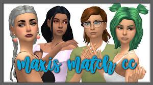 sims 4 maxis match cc hair made a maxis match cc showcase all cc is linked on my tumblr