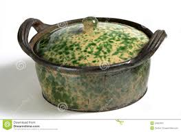 traditional green glazed clay pot stock image image 27393261