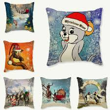happy new year gift tree pillow cases santa claus