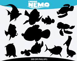 finding nemo instant download silhouette pinkykatieclipart