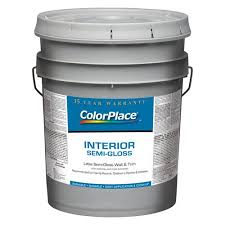 colorplace interior semi gloss accent base paint 5 gal walmart com
