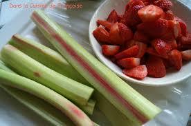 cuisine rhubarbe confiture de fraises rhubarbe dans la cuisine de françoise