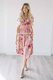 mauve floral pocket dress best place to buy modest dress online