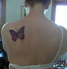 tattoos collection butterfly on back side