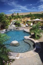 Backyard Landscaping With Pool by Best 25 Pool With Slide Ideas Only On Pinterest Beautiful Pools