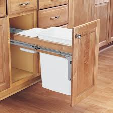 Under Desk Pull Out Drawer Kitchen Kitchen Recycling Bins Large Trash Cans Metal Trash Can