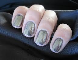 31dc2016 day 08 metallic nails