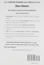 high marks regents physics made easy the physical setting
