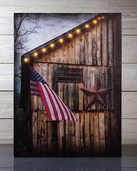 Americana Flags Radiance Lighted Canvas Americana Barn And Flag With Timer