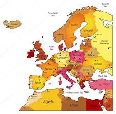 Map Pf Europe by Map Of Europe U2014 Stock Vector Ildogesto 11429490
