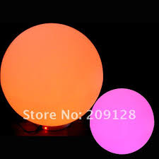 ball with light inside 40cm outdoor garden led color changing light inside ball vc b400 in