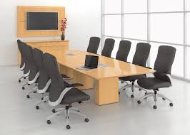 Cool Meeting Table Luxurious Modern Office Conference Room With Black Swivel Chair