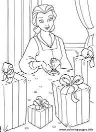 belle lots presents disney princess e93a coloring pages