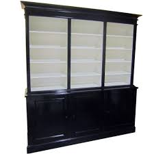 White Bookcase With Cabinet by West Coast Custom Library Cabinet Bookshelf Book Case Display