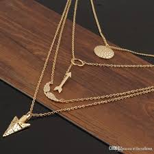 gold wings necklace images Wholesale hot fashion woman angel wing necklace gold plated fatima jpg