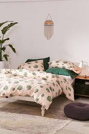 monstera leaf duvet cover set urban outfitters