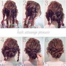 easy waitress hairstyles wavy updos for medium hair