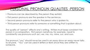 pronouns u2013 part one grade eight ppt video online download