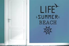 popular free life quotes buy cheap free life quotes lots from life summer beach wall stickers decals art life quotes free shiping china mainland