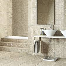 Floor Tiles For Bathroom Mid Sized Trendy Master Porcelain Tile And Beige Tile Porcelain